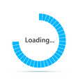 round loading bar icon vector image