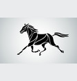running horse abstract silhouette eps10 vector image vector image