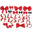 set bows and ribbons vector image vector image