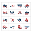 Set color icons of agricultural machinery vector image