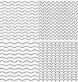 set four zigzag and wave simple seamless vector image vector image
