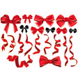 set of bows and ribbons vector image