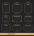 set of vintage gold frames vector image vector image