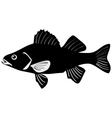Silhouette of perch vector | Price: 1 Credit (USD $1)