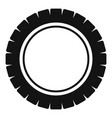 single tire icon simple style vector image vector image