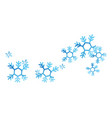 snowflakes ilustration vector image