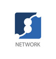 square network link logo concept design symbol vector image vector image