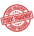 student engagement red grunge stamp vector image vector image