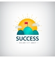 success creative logo icon concept 2 vector image