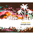 summer grunge background vector image vector image