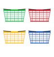 supermarket basket vector image vector image