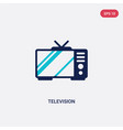 two color television icon from electronic devices vector image