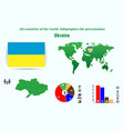 ukraine all countries of the world infographics vector image
