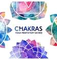 Watercolor chakras frame vector image vector image