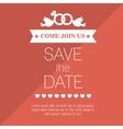 wedding invitation save date design graphic vector image vector image