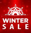 Winter sale Snowflake in pocket vector image vector image