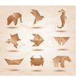 Origami Kraft Animals vector image