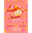 Baby shower message card vector image