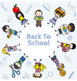 Card back to school vector image