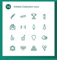 16 celebration icons vector image vector image
