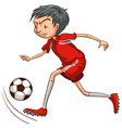 A man playing soccer vector image vector image