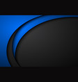 abstract black and blue wave background vector image vector image
