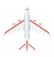 Aircraft view from above vector image vector image