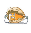 angry oyster mascot cartoon style vector image vector image