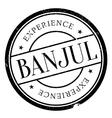 Banjul stamp rubber grunge vector image vector image