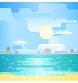 Beautiful beach landscape vector image vector image