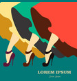 beautiful legs isolated made in vintage style vector image