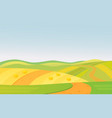 beautiful summer rural vector image