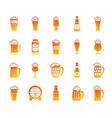 beer mug simple gradient icons set vector image vector image