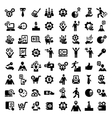 big business success icons set vector image vector image