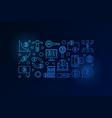 bitcoin minimal blue banner crypto vector image vector image