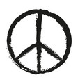 black peace sign painting vector image vector image