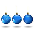 blue christmas ball set vector image vector image