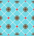 blue spanish ornamental ceramic tile vector image vector image