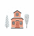 cartoon winter house image a christmas vector image vector image