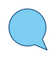 chat bubble symbol vector image