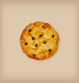 chocolate chip cookie vector image vector image
