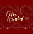 christmas gold art deco line spanish feliz navidad vector image vector image