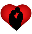 couple silhouette valentines day vector image