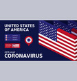 covid-19 usa map confirmed cases cure deaths vector image