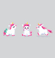 cute unicorn set background bafairy vector image vector image