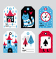 fairytale labels vector image