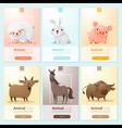 Farm animals banner for web design vector image vector image