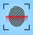 finger print icon scanning