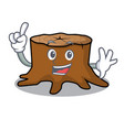 finger tree stump mascot cartoon vector image vector image