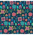floral pattern design background with vector image vector image